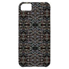 Glass Crystals on Black iPhone 5C Case