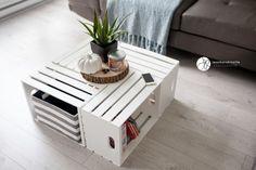 Table with wooden boxes, DIY, table, DIY table, table box # wooden boxes box Crate Table, Table Diy, Wooden Crate Coffee Table, Wood Crates, Wooden Boxes, Diy Garden Decor, Diy Home Decor, Decoration Palette, Diy Tisch