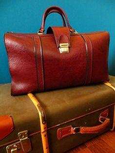 Marktplaats.nl - Vintage weekendtas dokterstas reistas aktetas tas satchel - Tassen | Reistassen en Weekendtassen