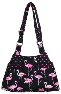 Pink Flamingos Adj Strap Hipster Purse on Etsy, $37.00