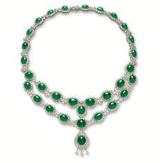 IMPRESSIVE JADEITE AND DIAMOND NECKLACE | Lot | Sotheby's