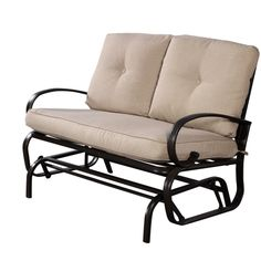 Free Shipping. Buy Costway Glider Outdoor Patio Rocking Bench Loveseat Cushioned Seat Steel Frame Furniture at Walmart.com