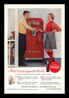 Vintage Coca-Cola Ad, 1955 | Flickr - Photo Sharing!