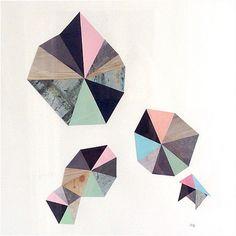 #Kunst #CollageKunst #geometri #art  #DIY #collage made by #DiddeGlad
