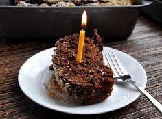 Dark Chocolate Coconut Banana Bread... a healthy birthday treat.
