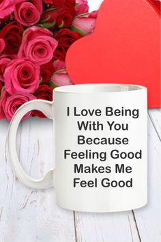 Shopari Valentine's Mug – I Love You Because Feeling Good Makes Me Feel Good™ - Ounce (Oz) Ceramic Coffee Mug Insulated Coffee Mugs, Personal Prayer, Philosophical Quotes, Valentine Crafts, Valentines, Cute Coffee Mugs, What's For Breakfast, Country Crafts, Love You