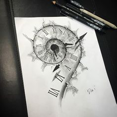 cracked clock drawing - Google Search