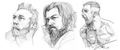 "New practice sketches from ""Dark was the night"", ""The revenant"" and ""Southpaw"". The Revenant, New Face, Faces, Sketches, Night, Dark, News, Artwork, Art Work"