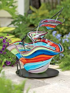 Carnivale Glass Fountain
