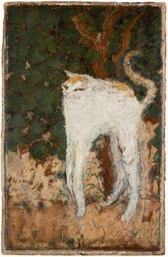 Pierre Bonnard, Le Chat blanc, 1894, huile sur carton, Musée d'Orsay, Paris © Adagp, Paris 2015 © Musée d'Orsay, dist. RMN-Grand Palais / P. Schmidt