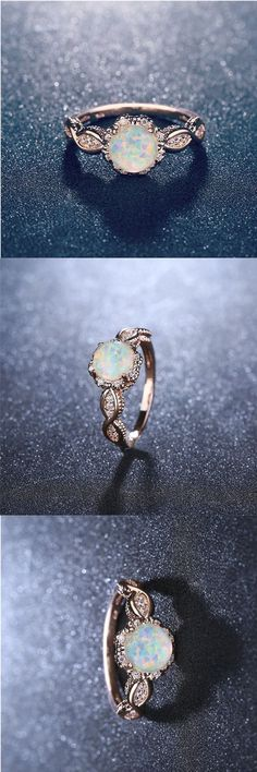 Lovely Fire opal rose gold ring #jewelry #rings #gifts  #opal #wedding #engagement #fashion Wedding Engagement, Wedding Rings, Engagement Rings, Opal Rings, Silver Rings, Gemstone Rings, Whimsical Fashion, White Opal, Promise Rings