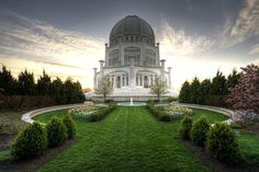 Baha'i House of Worship at Sunset (HDR) by Richard Susanto  http://www.capturemychicago.com/photos/170130