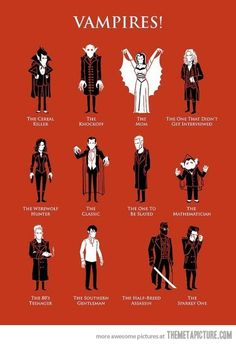 Types of Vampires…The mathematician is my favourite.