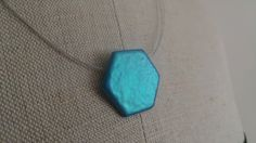 Geometric Collection - Bright Turquoise Hexagon by SanityHalo, $25.00 CAD