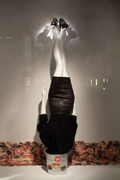 head over heels for shoes - Barney's window   display photographed by Julia Chesney