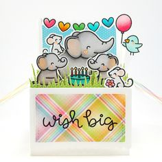 """243 Likes, 25 Comments - Amy. Y (@sharingnewlove) on Instagram: """"Birthday card using #lawnfawn stamps and dies. Entering this for #lawnfawnatics challenge #9 and…"""""""