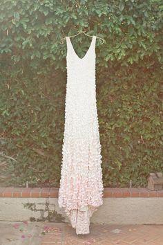 """petal"" wedding dress, photo by Megan Welker Photography http://ruffledblog.com/garden-romance-wedding-inspiration #bhldn #weddingdress #weddingfashion"