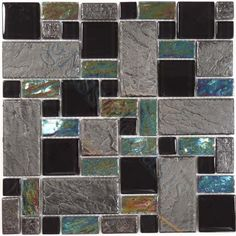 """Sheet size: 11 5/8"""" x 11 5/8""""     Tile Size: Unique Shapes     Tiles per sheet: 53     Tile thickness: 1/4""""     Grout Joints: 1/8""""     Sheet Mount: Mesh Backed     Sold by the sheet"""