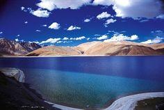 Pangong Tso Lake in the Himalayas