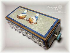 Stempeleinmaleins: Kleine Schachtel für Süßigkeiten