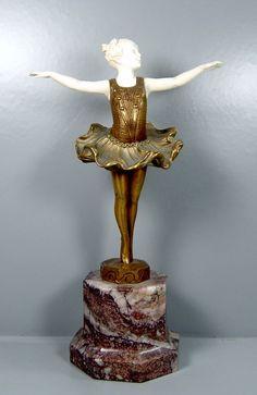 Bronzefigur von Ferdinand Preiss -  Lieselotte  - Ballerina