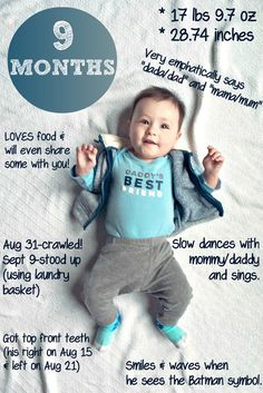 The Cooking Actress: James-9 Months! #babyupdate