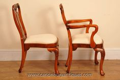 Large range of antique dining chairs Walnut Dining Chairs, Antique Dining Chairs, Dining Furniture, Queen Anne Chair, Chippendale Chairs, Kitchen Seating, Dining Set, Side Chairs, Antiques