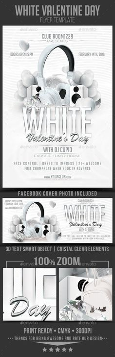 White Affair Party Flyer | Party Flyer, Flyer Template And Font Logo