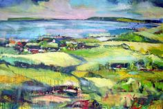 """The View from My Window by Christina Kjelsmark - 40"""" x 60"""", Acrylic on Canvas - $5,200.00 - www.nordicartwork.com"""