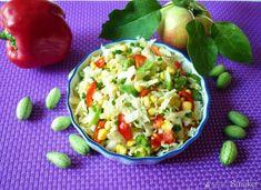 Kapusta pekińska z jabłkiem i ogórkami Guacamole, Curry, Mexican, Ethnic Recipes, Food, Salads, Curries, Essen, Meals