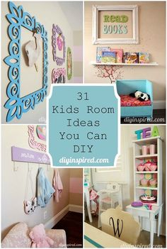 31 kids room ideas you can diy-of-diy toddler bedroom decor