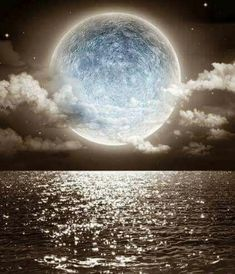 View top-quality stock photos of Fantasy Moon On Transparent Sea In The Night Claudy. Find premium, high-resolution stock photography at Getty Images. All Nature, Amazing Nature, Shoot The Moon, Modelos 3d, Moon Photography, Good Night Moon, Moon Magic, Pretty Pictures, Beautiful Moon Pictures