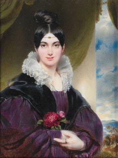 Moritz Michael Daffinger (Vienna 1790–1849) Portrait of Marie Daffinger, neé Smalk von Smolenitz (1808–1880) Жена художника