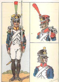 FRANCE -  4th Line Infantry, Voltigeur Sergeant, Grenadier & Fusilier, 1809