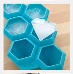 The Diamond Ice Cube Tray is a reusable silicone mold that creates ice cubes that look just like a girl's best friend. This 6 karat Diamond Ice Cube Tray speaks of a new kind of ice cubes you can use to beautify your drinks apart from chilling Cool Ideas, Diamond Ice, Diamond Party, 21 Things, Cheap Things, Things I Want, Cool Inventions, Diamond Shapes, Sweet Home