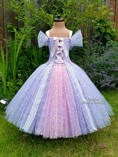 Rapunzel Tangled Inspired Sparkly Tutu by BloomingTutusUK on Etsy