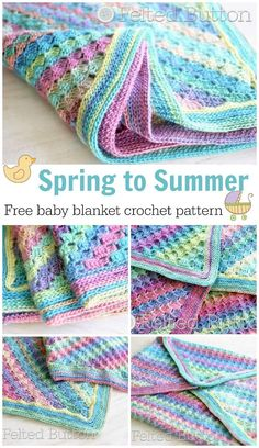 Adorable (and free) baby blanket crochet pattern. Really nice instructions with photos to help beginners. It makes a really pretty blanket.