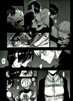 touka x kaneki..... finally.....all the rumors of kaneki being gay....tokyo ghoul