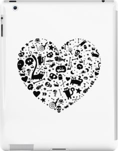 'Halloween Heart' iPad Case/Skin by Adrian Serghie Canvas Prints, Framed Prints, Art Prints, Ipad Case, Chiffon Tops, Duvet Covers, Classic T Shirts, Greeting Cards, Laptop