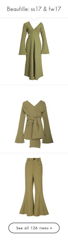 """Beaufille: ss17 & fw17"" by livnd ❤ liked on Polyvore featuring beaufille, springsummer2017, livndfashion, livndbeaufille, dresses, green, off the shoulder dress, off shoulder dress, green color dress and green off the shoulder dress"