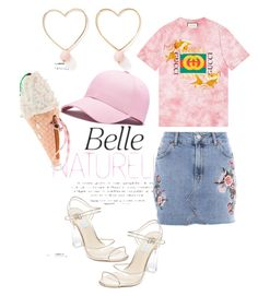 An everyday and girly look by savvinabitz on Polyvore featuring polyvore fashion style Gucci Topshop Betsey Johnson Ana Accessories clothing