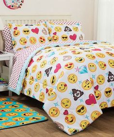 Look at this #zulilyfind! Emoji Pals Bedding Set #zulilyfinds