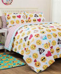 Look at this #zulilyfind! Emoji Pals Bedding Set #zulilyfinds
