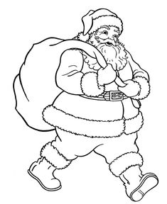 Free Printable Christmas Santa Coloring Pages Many Categories Of Holiday Sheets And Book Pictures For Kids To Choose From