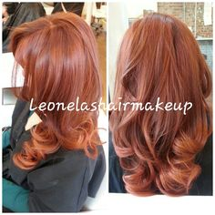 Copper haircolor