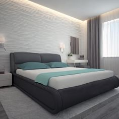 Modern Home Decor Bedroom Simple Bedroom Design, Bedroom False Ceiling Design, Luxury Bedroom Design, Bedroom Bed Design, Modern Bedroom Decor, Bedroom Furniture Design, Home Room Design, Interior Design Living Room, Apartment Interior