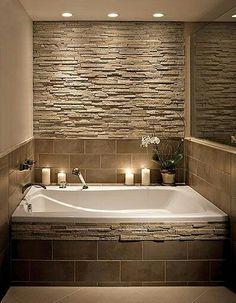 Home Decorating Ideas Bathroom Bathroom stone wall and tile around the tub is creative inspiration for us. - Home Decorating Ideas Bathroom Bathroom stone wall and tile around the tub is creative inspiration for us.