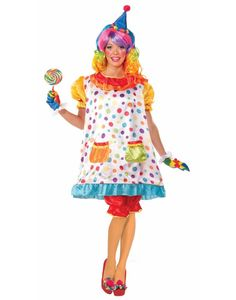 Birthday Circus Clown Wiggles Funny Classic Adult Womens Costume