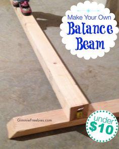 DIY Make a Gymnastics Beam at Home (under $10! in NO Time!)