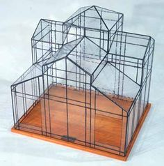 Classic Series, Tashiro Stained Glass Studio in Tokyo, Japan makes the most adorable miniature glass house terrariums. Stained Glass Studio, Stained Glass Projects, Stained Glass Patterns, Glass Planter, Glass Terrarium, Terrariums, Miniature Greenhouse, Miniature Houses, Sims House